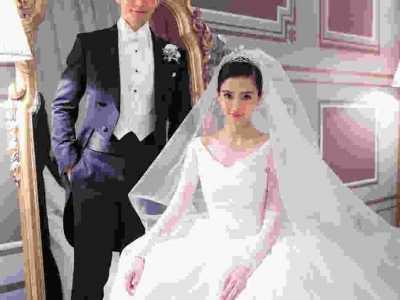 angelababy婚纱照片 女神angelababy和教主黄晓明室内外景婚纱照高清全套